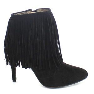 NWT Chase & Chloe Carina Fringe Suede Bootie, 8